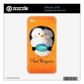 Cute Little Penguin iPhone 4S Skins