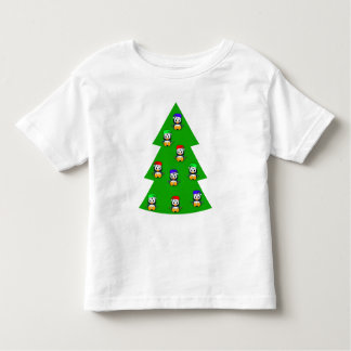 Cute Little Penguins on a Christmas Tree Toddler T-shirt