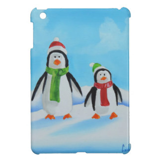 Cute little penguins with scarves case for the iPad mini