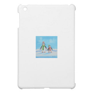 Cute little penguins with scarves iPad mini covers