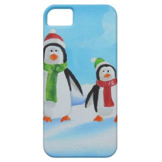 Cute little penguins with scarves iPhone SE/5/5s case