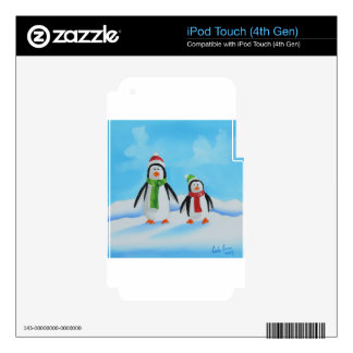 Cute little penguins with scarves iPod touch 4G skin