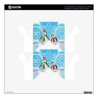 Cute little penguins with scarves PS3 controller skin