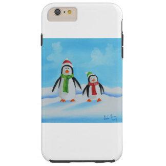 Cute little penguins with scarves tough iPhone 6 plus case