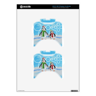 Cute little penguins with scarves xbox 360 controller decal