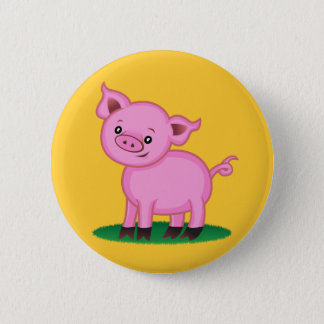 Cute Little Pig Button