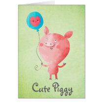 Cute Little Pig Card