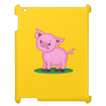 Cute Little Pig iPad Case