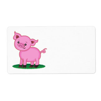 Cute Little Pig Label Shipping Label