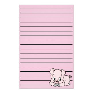 Cute Little Pig Stationery