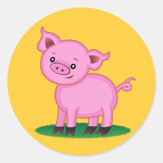 Cute Little Pig Sticker