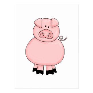 cute little piggie postcard