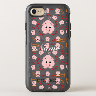 Cute Little Piggies and Hearts Pattern Print OtterBox Symmetry iPhone 8/7 Case
