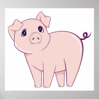Cute Little Piggy Art Poster