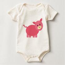 Cute Little Piggy Baby Bodysuit