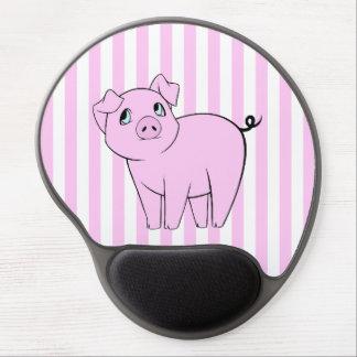 Cute Little Piggy (Baby Pig) - Pink Black Gel Mouse Pad