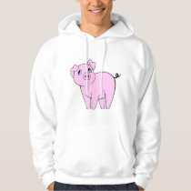 Cute Little Piggy (Baby Pig) - Pink Black Hoodie