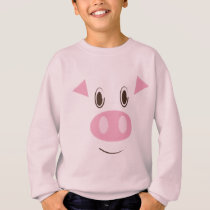 Cute Little Piggy's Face Sweatshirt