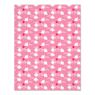 Cute Little Pink and white Chicks Card