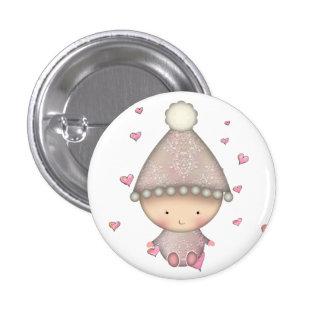 Cute Little Pink Baby Button