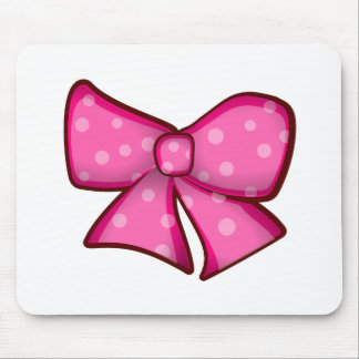 Cute Little Pink Bow Mouse Pad