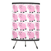 Cute Little Pink Cartoon Pig Pattern Kids Tripod Lamp