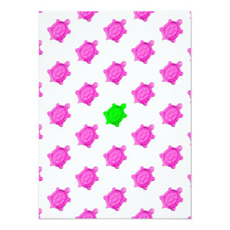Cute Little Pink/Green Turtle Pattern Card