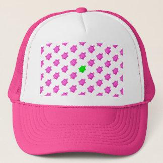 Cute Little Pink/Green Turtle Pattern Trucker Hat