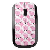 Cute Little Pink Pig Kids Piggy Pattern Wireless Mouse