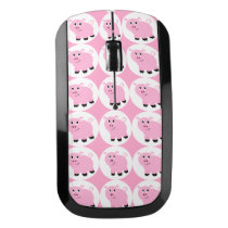 Cute Little Pink Pig Kids Piggy Pattern Wireless Mouse