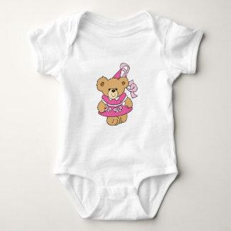 Cute Little Pink Princess Bear Baby Bodysuit