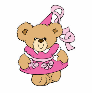 Cute Little Pink Princess Bear Cutout