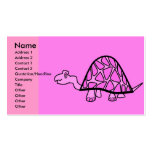 Cute little pink turtle business cards