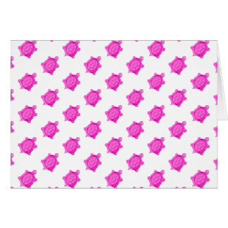 Cute Little Pink Turtle Pattern Greeting Card