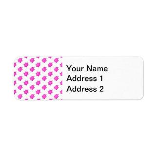 Cute Little Pink Turtle Pattern Label