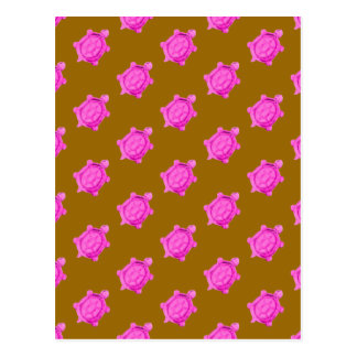 Cute Little Pink Turtle Pattern Postcard