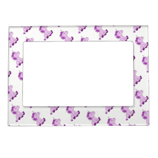 Cute Little Pink Unicorns Magnetic Picture Frame