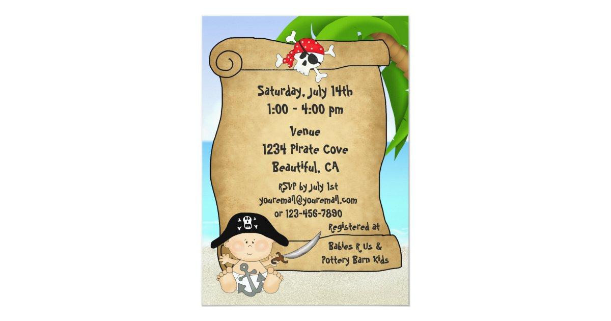 cute little pirate boys baby shower invitation zazzle