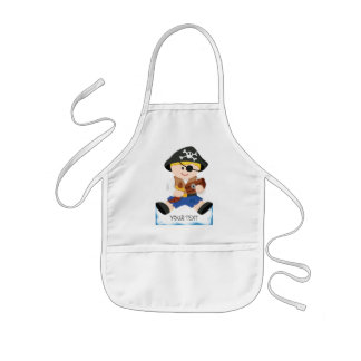 Cute little pirate kids' apron