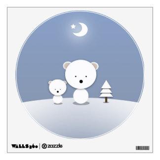 Cute Little Polar Bears Wall Decal