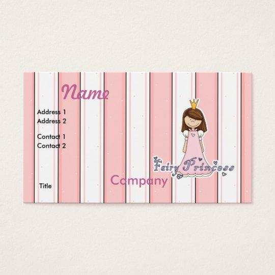 Cute Little Pretty Fairy Princess Business Card