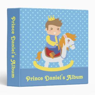 Cute Little Prince, Blue Polka Dots, Photo Album Vinyl Binders