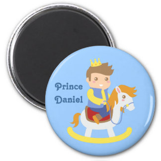Cute Little Prince on Rocking Horse Boys Magnet