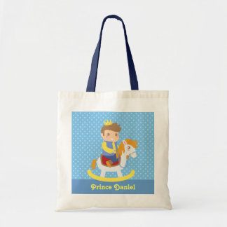 Cute Little Prince on Rocking Horse, for Boys Tote Bag