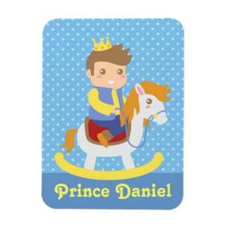 Cute Little Prince on Rocking Horse, of boys Magnet