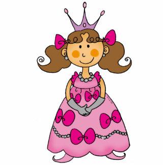 Cute little princess (brown hair) cutout
