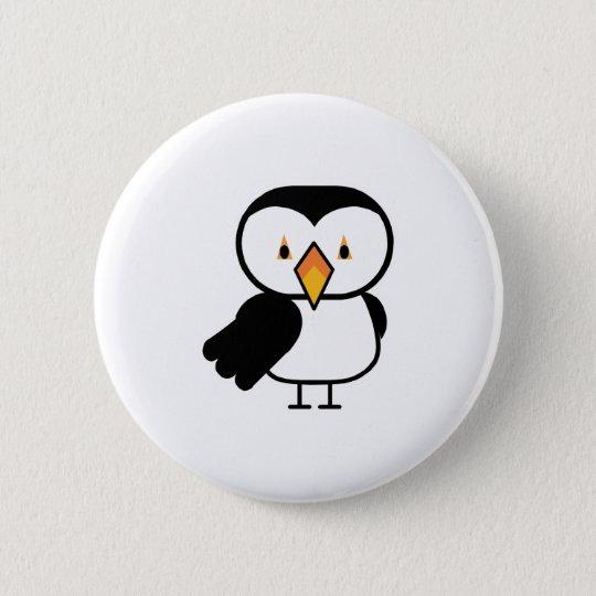cute little puffin pinback button