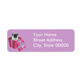 Cute little Pug Present Custom Return Address Labels