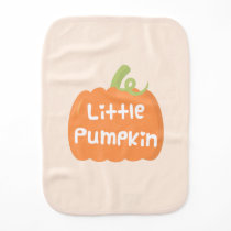 Cute Little Pumpkin Autumn Baby Burp Cloth