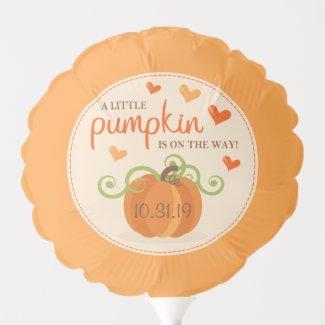 Cute Little Pumpkin Baby Shower Balloon